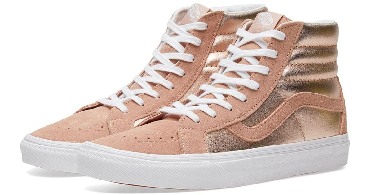 a3f585c39a Lyst - Vans Sk8-hi Reissue in Pink