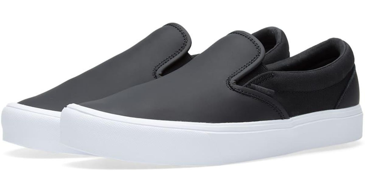874cd0ba126b79 Lyst - Vans X Rains Slip On Lite in Black for Men