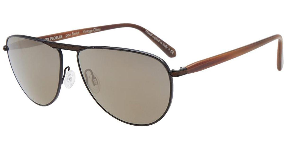 98fc8f6208 Lyst - Oliver Peoples X Berluti Conduit Street Sunglasses in Black for Men