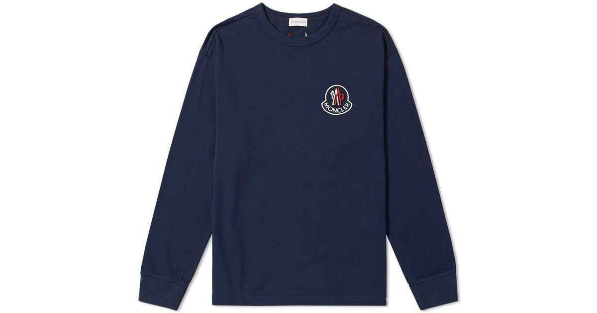 24787ca00af1 Lyst - Moncler x Kith Long Sleeve Tee in Blue for Men