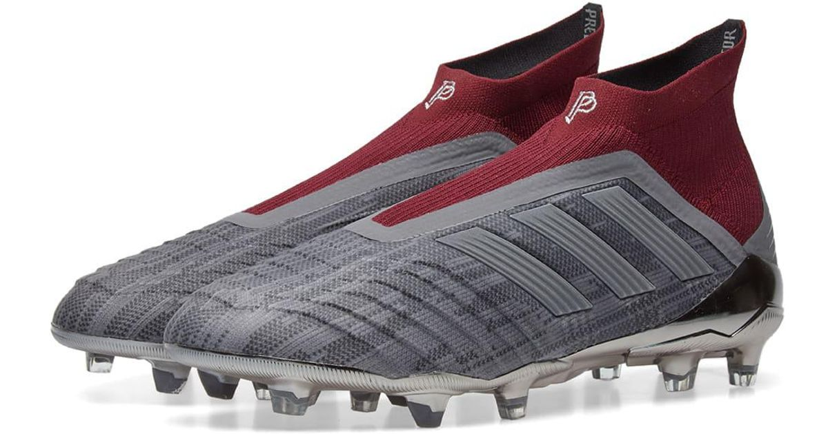 f82a7a828 adidas X Paul Pogba Predator 18+ Fg in Gray for Men - Lyst
