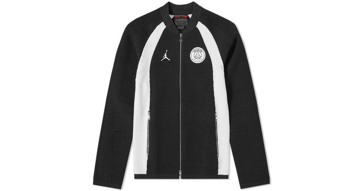 the latest a22bd 9bcff Nike Jordan X Paris Saint-germain Flight Knit Track Jacket in Black for Men  - Lyst