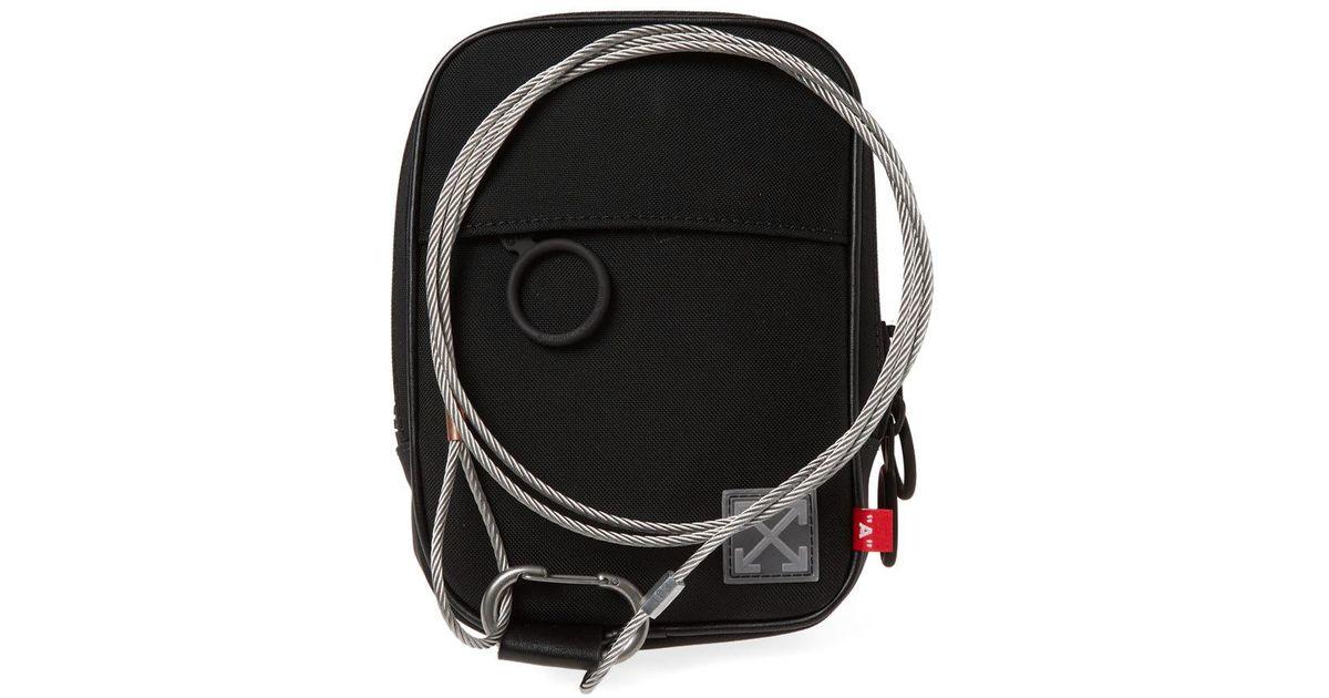 4783c7d03b5d Lyst - Off-White c o Virgil Abloh Tape Mini Crossbody Bag in Black for Men