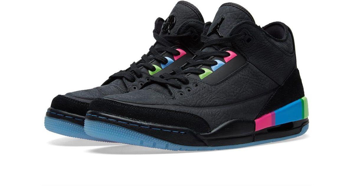 premium selection f458c 8dcd4 Nike - Black Air Jordan Iii Retro Se 'quai 54' for Men - Lyst