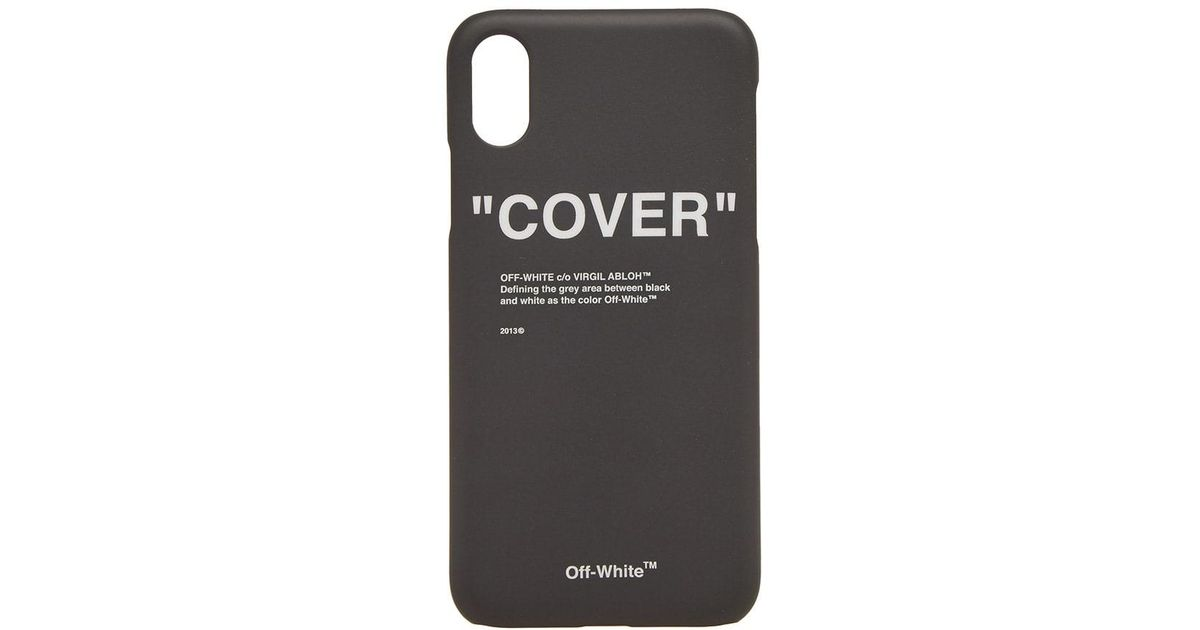 a75aa8b12de3d Lyst - Off-White c o Virgil Abloh Quote Iphone X Case in Black