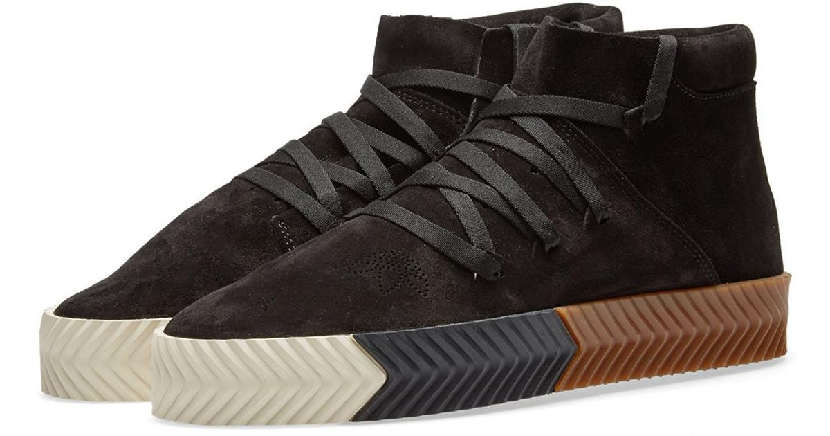 sports shoes f4d65 a5fc4 Lyst - Alexander Wang Adidas Originals By Alexander Wang Skate Mid in Black