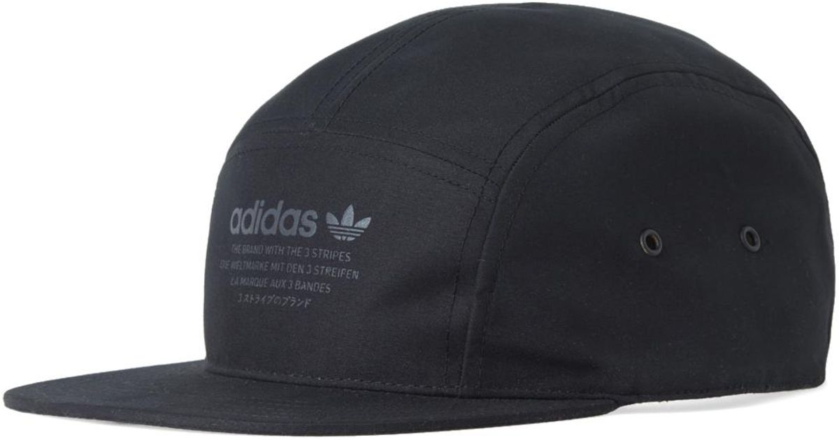 2c9a48a4674 adidas Originals Nmd 5 Panel Cap in Black for Men - Lyst