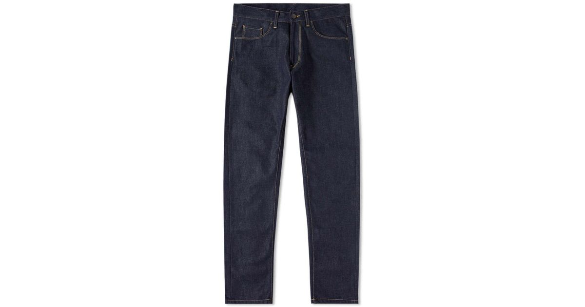 lyst carhartt wip vicious pant in blue for men. Black Bedroom Furniture Sets. Home Design Ideas