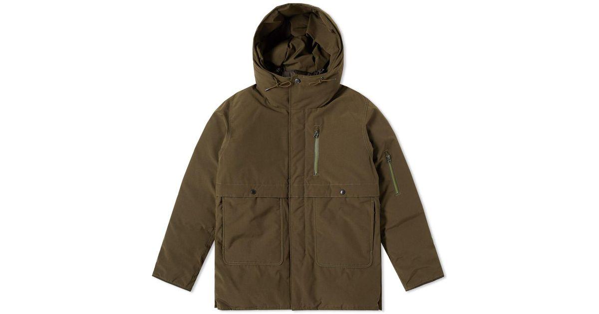 Nanamica down coat green