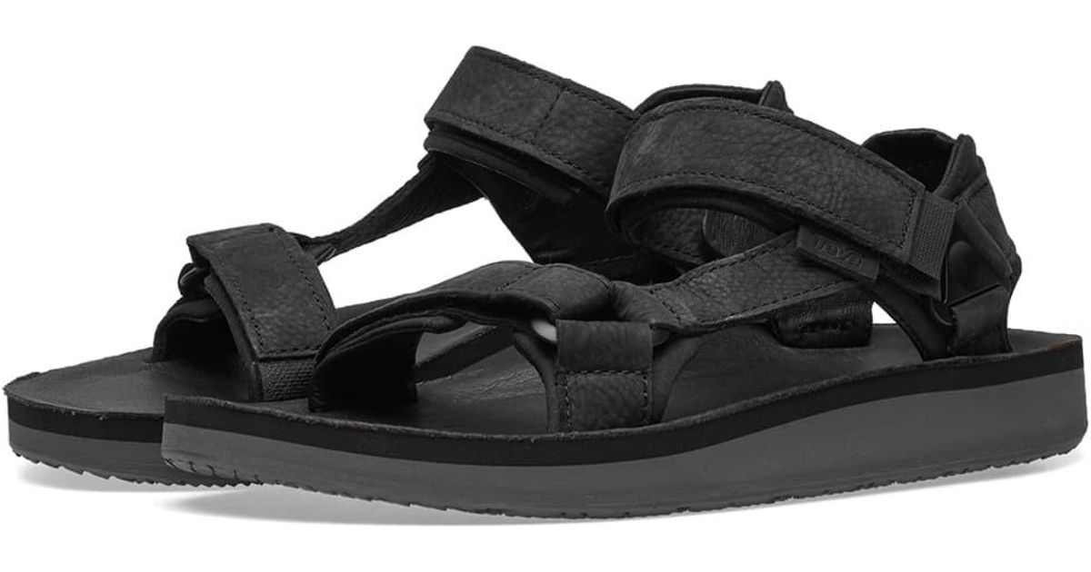 64ace6c2c58c Lyst - Teva Original Universal Premium Leather Sandal in Black for Men