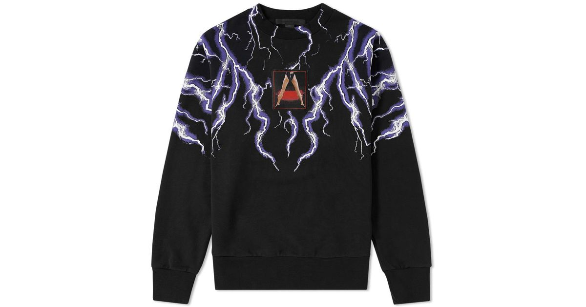78449b1c2 Alexander Wang Lightning Collage Loopback Sweat in Black for Men - Lyst