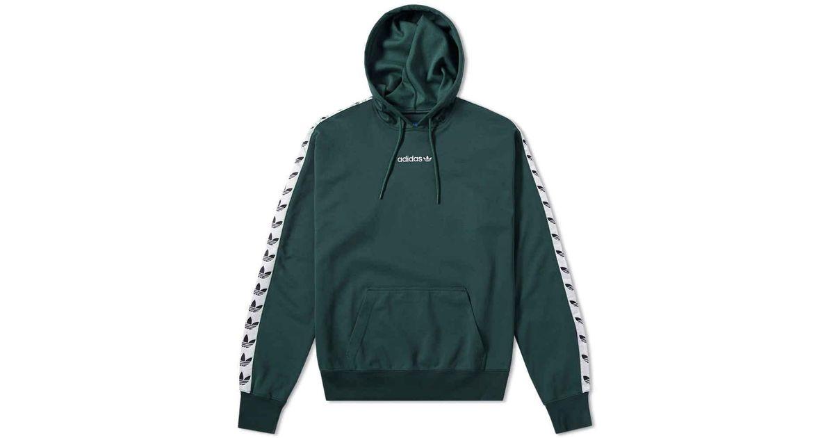 adidas Originals TNT Trefoil Tape Pullover Hoody Green Night
