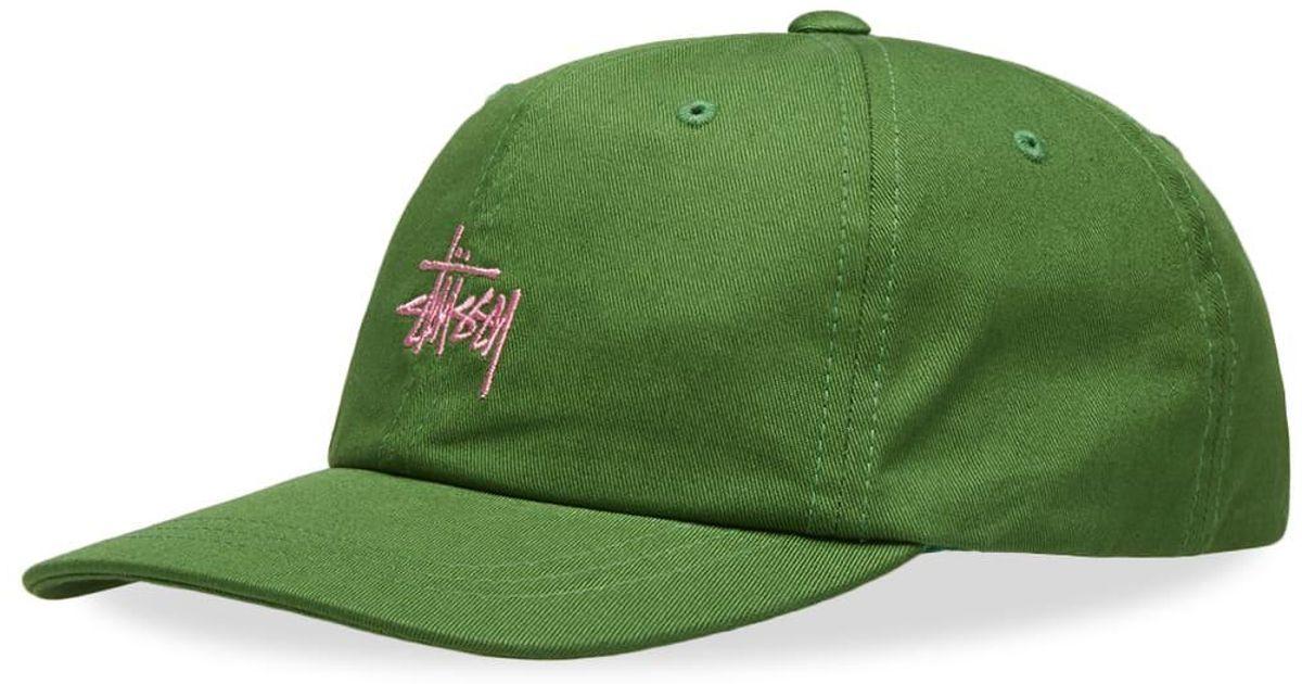 fcae62813e81e Stussy Sp19 Stock Low Pro Cap in Green for Men - Lyst