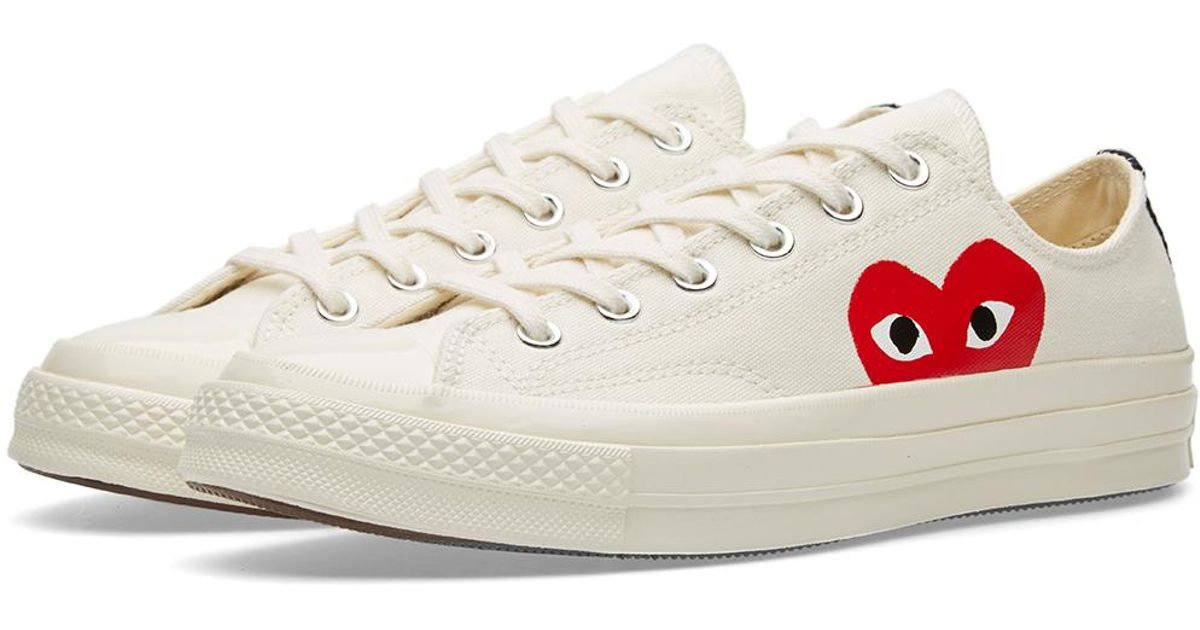 dcc3a785dd7 COMME DES GARÇONS PLAY Comme Des Garcons Play X Converse Chuck Taylor 1970s  Ox in White for Men - Save 10% - Lyst