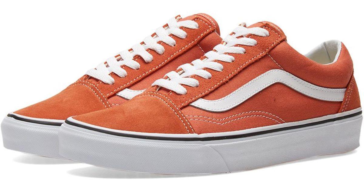 6abef6a59658 Vans Women s Burnt Orange Old Skool Sneakers in Orange - Lyst