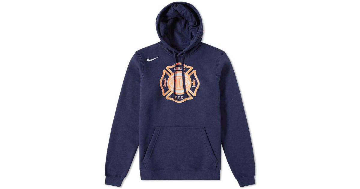 e9fc63d26 Nike New York Knicks City Edition Hoody in Blue for Men - Lyst