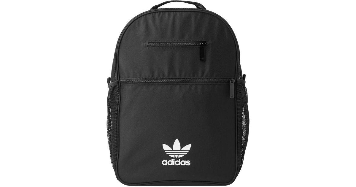 feebc94d609b Adidas - Black Essential Trefoil Backpack for Men - Lyst