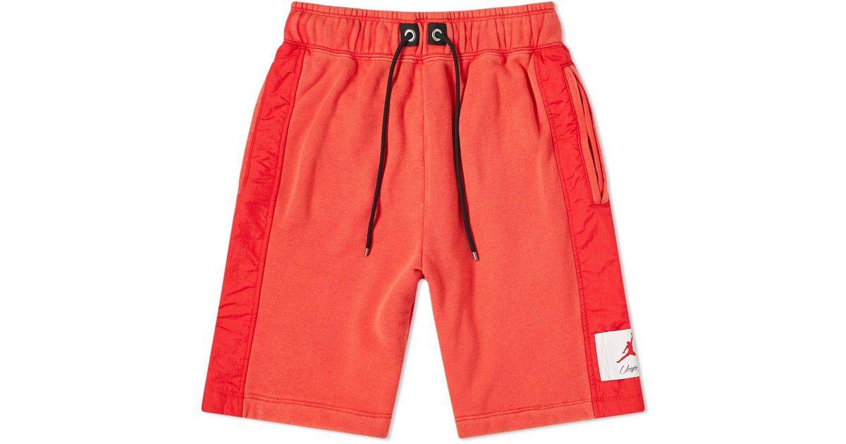 c29b3c6a8ac579 Lyst - Nike Air Jordan X Union Vault Flight Short in Red for Men