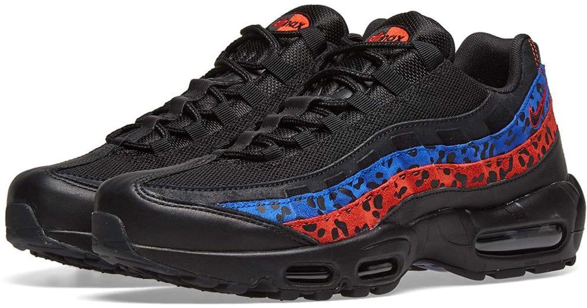 e28580cc5c Nike Air Max 95 Premium Animal Shoe in Black - Lyst