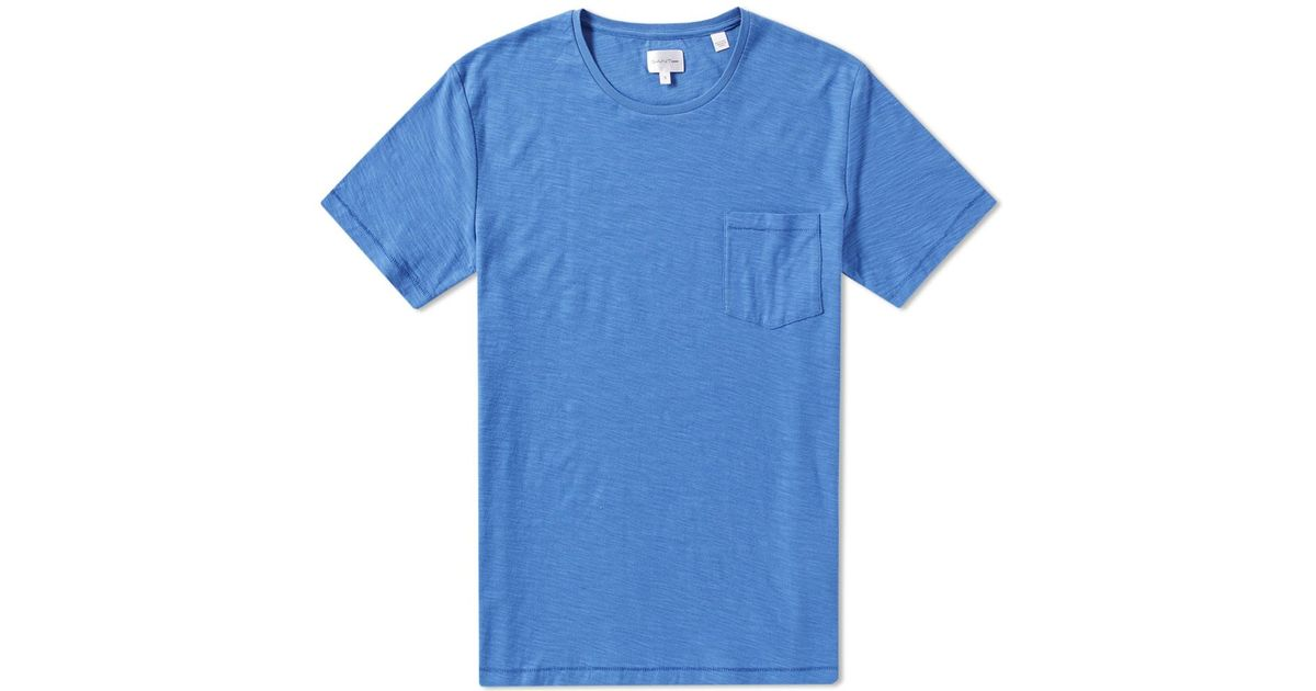 best really comfortable new products Gant Rugger Blue Organic Slub Tee for men