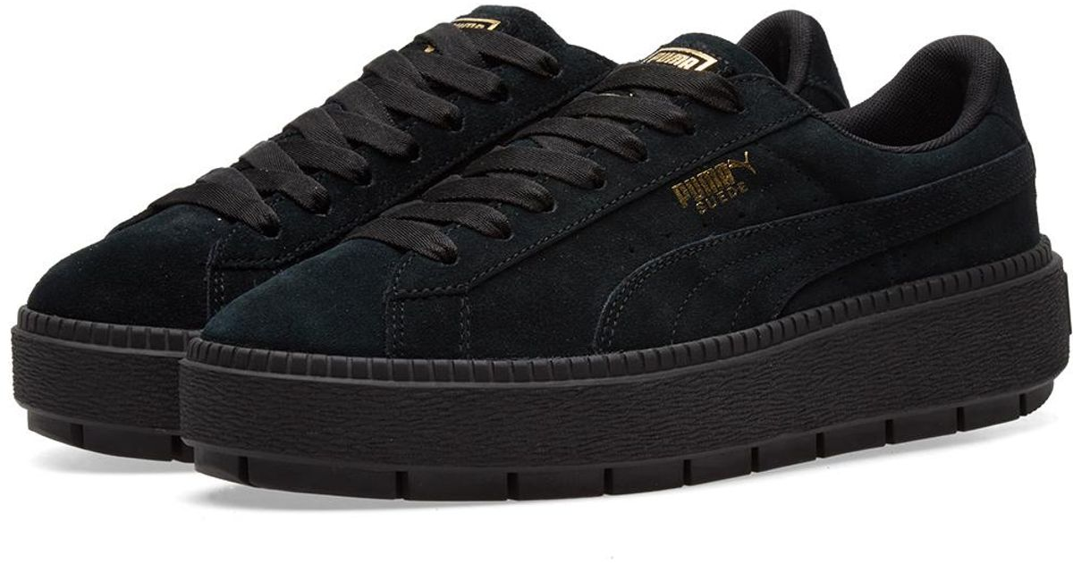 outlet store e2a95 04491 PUMA Suede Platform Rugged W in Black - Lyst