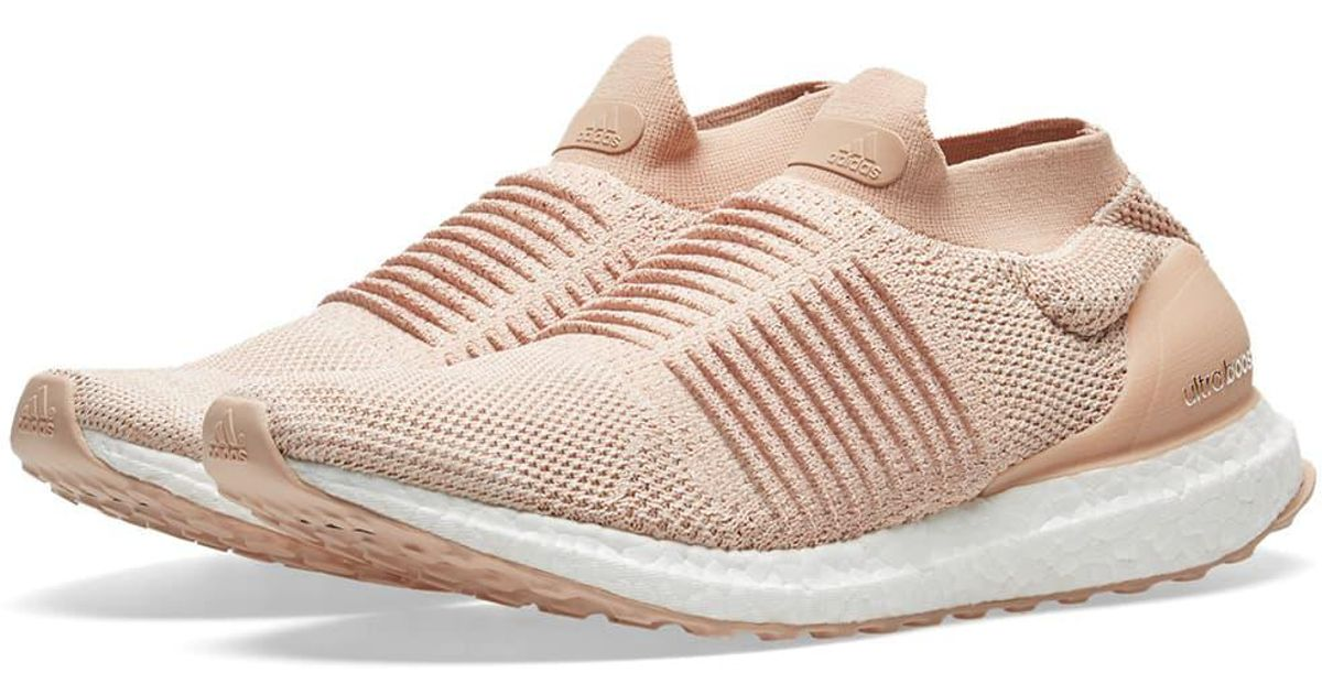 8c8ee29cc8b Lyst - adidas Ultra Boost Laceless W in Pink