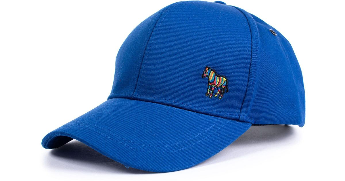 ab2a1d45219 Paul Smith Cotton Zebra Logo Baseball Cap in Blue for Men - Lyst