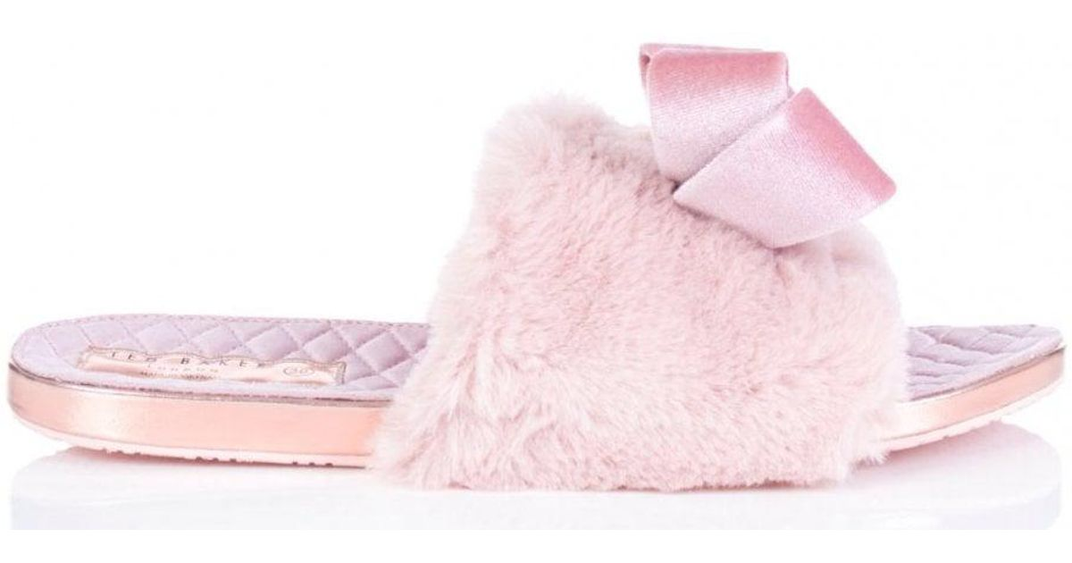 b340fafa0074 Ted Baker Blings Faux Fur Slip-on Slippers in Pink - Save 29% - Lyst