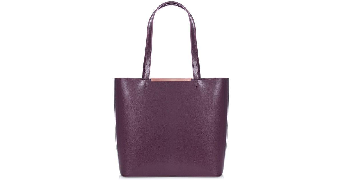 b6daa34d2633 Ted Baker Melisa Leather Tote in Purple - Lyst