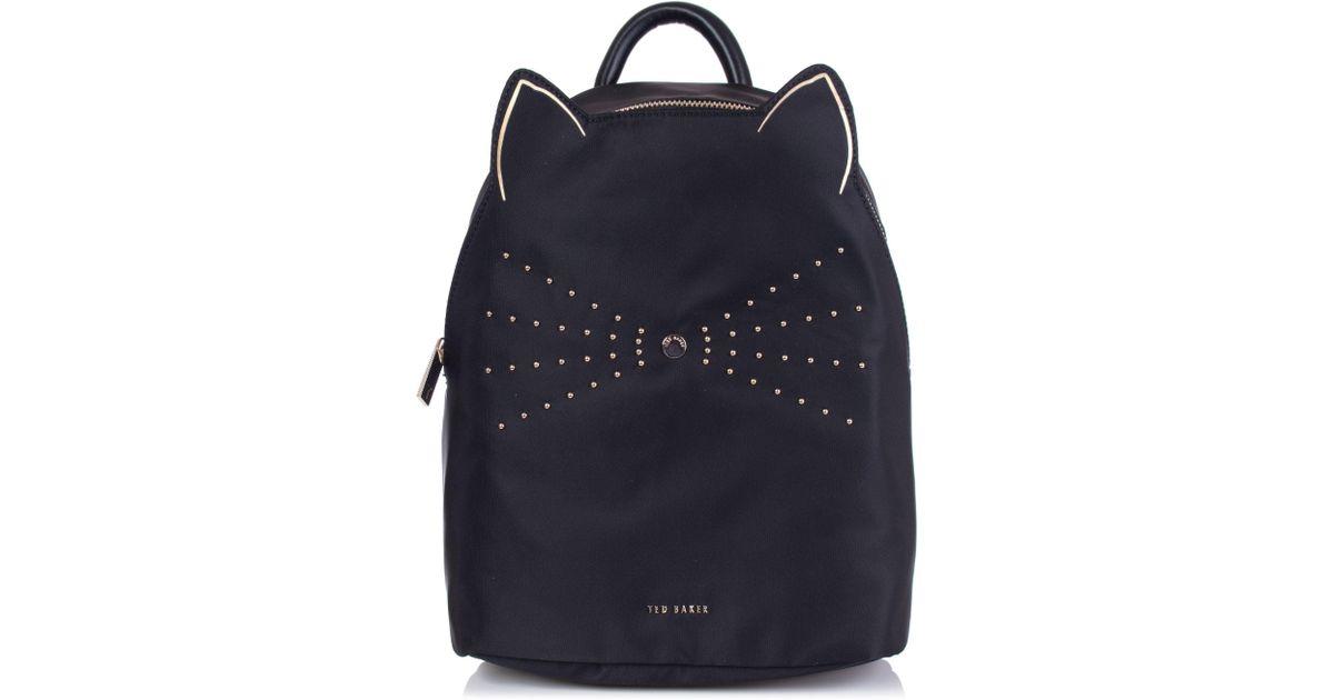 bc6cc0f11089 Ted Baker Katt Nylon Cat Whiskers Backpack in Black - Lyst