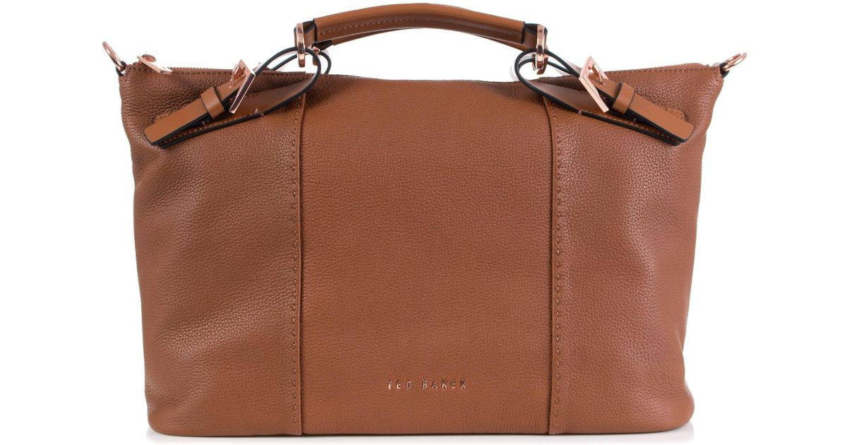 e85775fd21 Ted Baker Salbee Leather Tote in Brown - Lyst