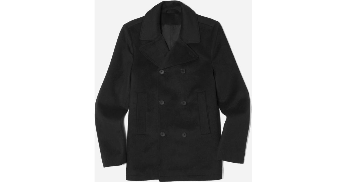 Everlane The Quilted Peacoat in Black for Men | Lyst : quilted pea coat - Adamdwight.com