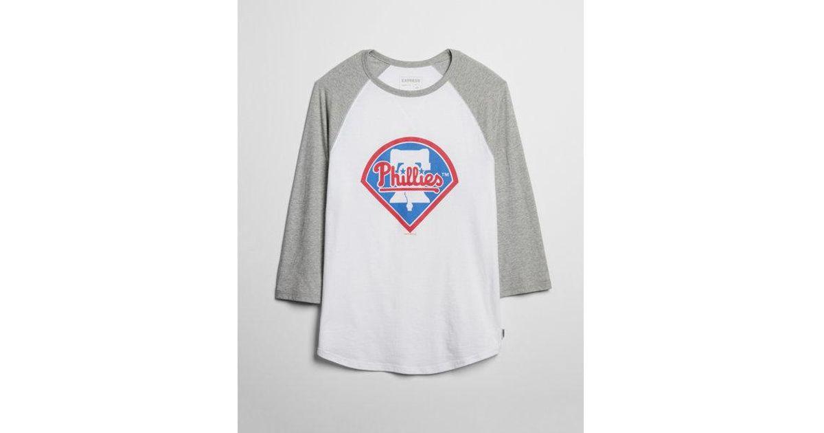 cec35371 Lyst - Express Philadelphia Phillies Baseball Tee in White for Men