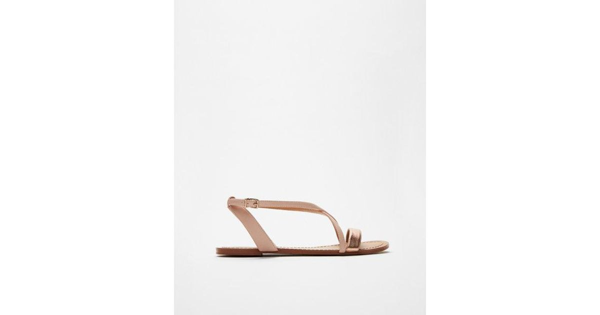 beb2dbcb2e5a Lyst - Express Simple Crisscross Sandals in Metallic