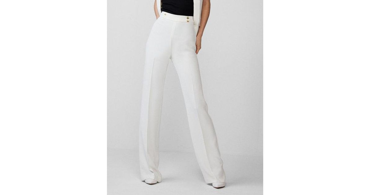 Lyst Express Super High Waisted Drape Wide Leg Dress Pant In White