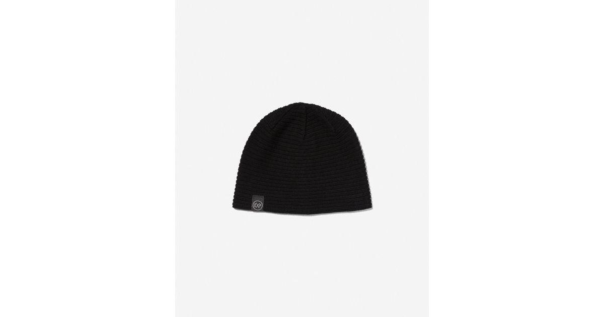 Express Solid Reversible Beanie in Black for Men - Lyst 8d6334ad7b18