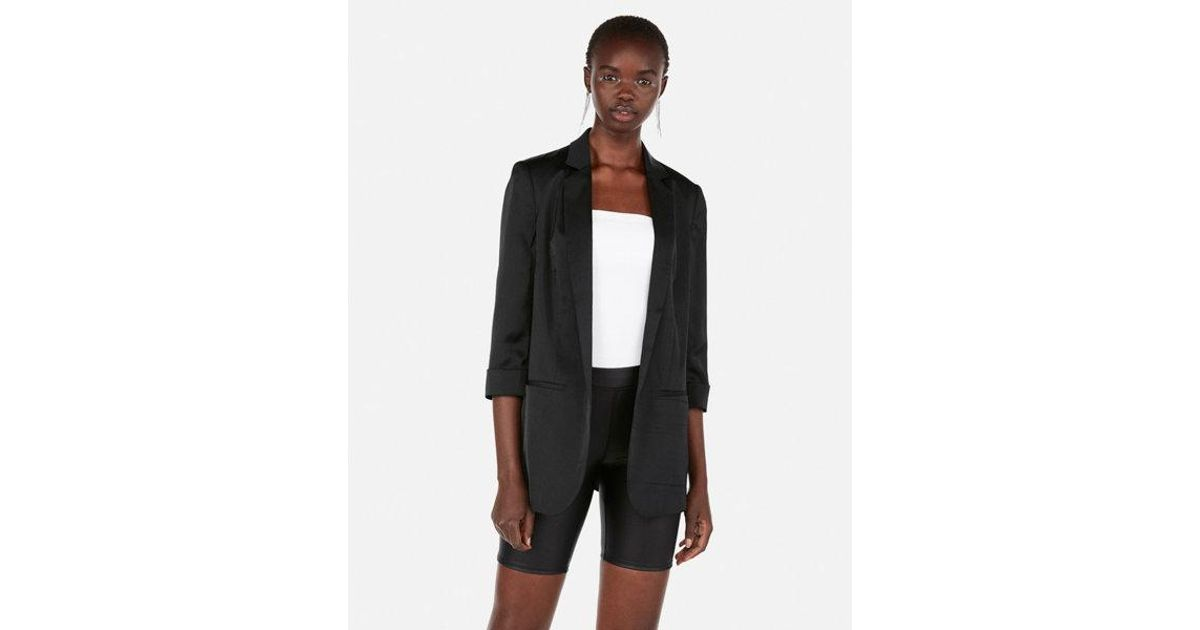 dea0fafb9f Express - Black High Waisted Faux Leather Biker Shorts - Lyst