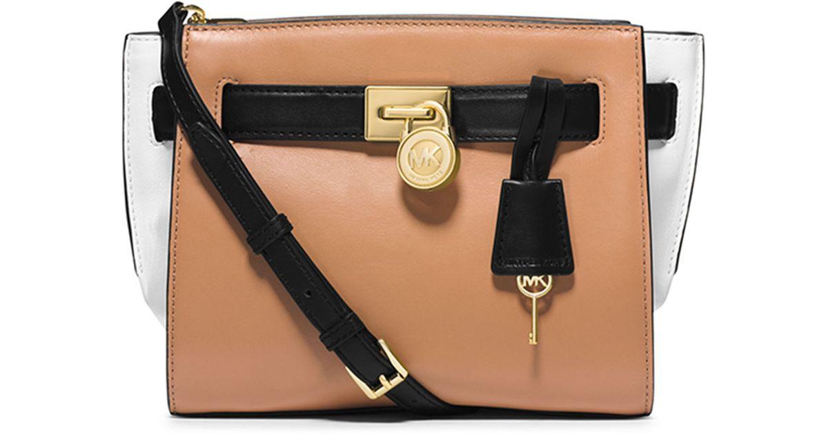 484287be5a28 Lyst - MICHAEL Michael Kors Hamilton Traveler Messenger Bag in Natural