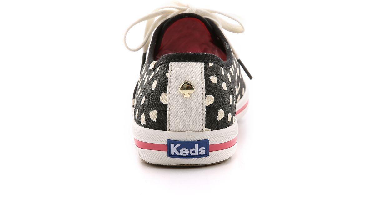 12330a90ae88 Lyst - Kate Spade Kick Flamingo Dot Keds Sneakers - Cream Flamingo Dot in  Natural