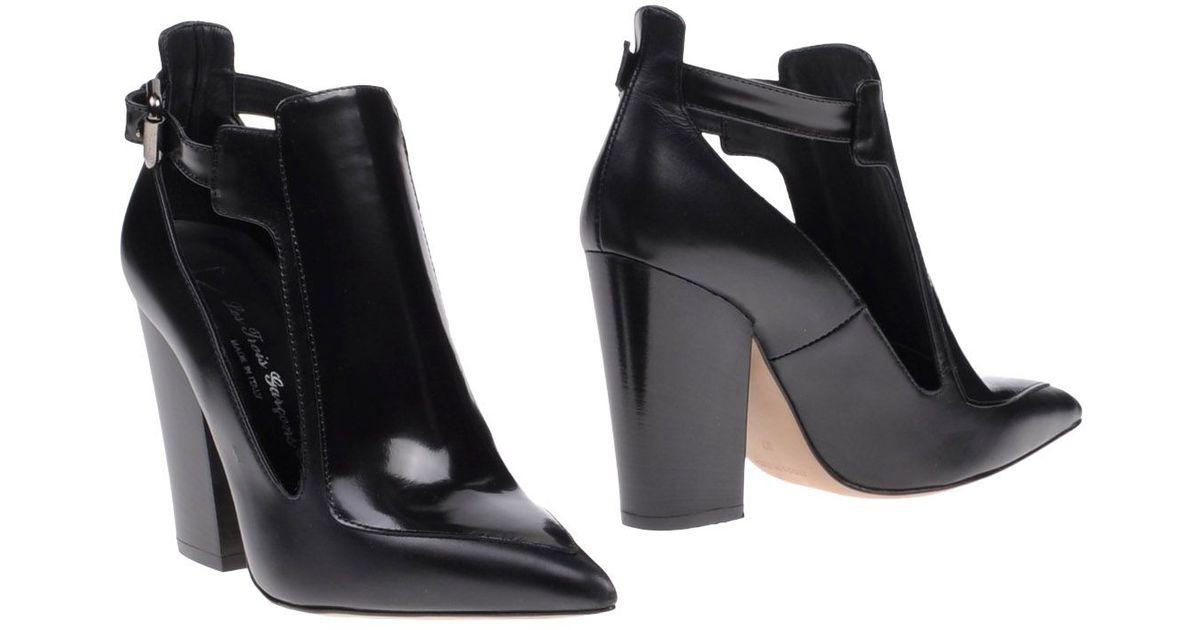 0d7af36c88638c Lyst - Les Trois Garçons Ankle Boots in Black