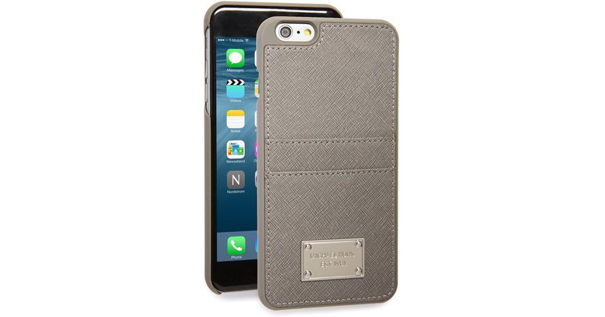 pretty nice b41c9 8dba7 MICHAEL Michael Kors Gray Saffiano Iphone 6 Plus & 6s Plus Case