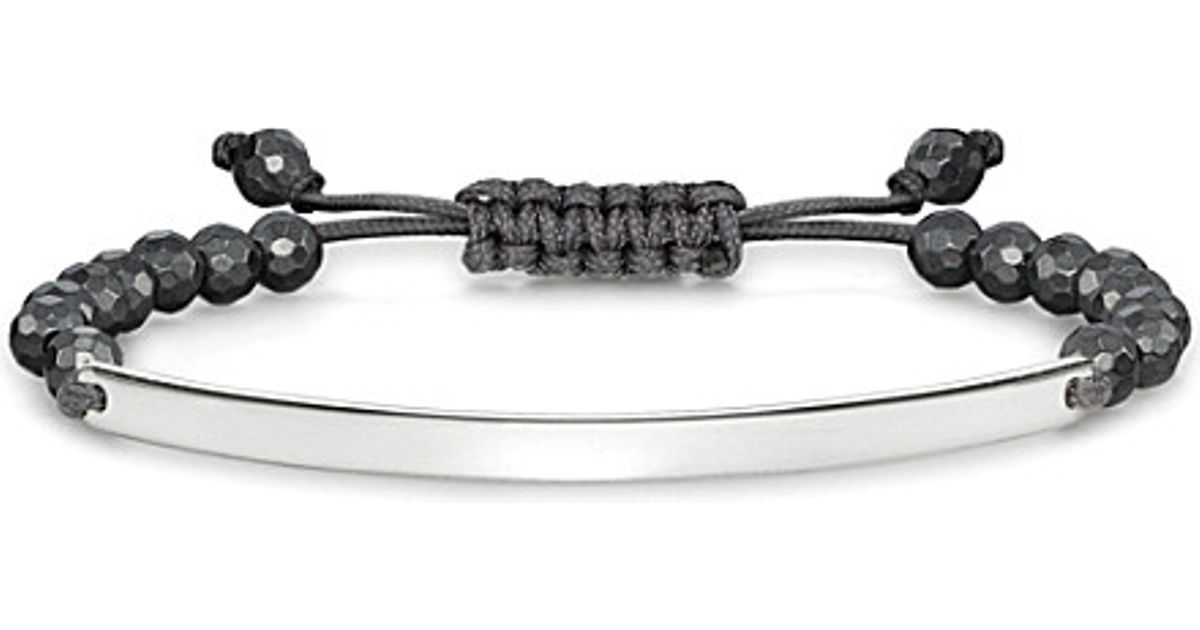 Lyst Thomas Sabo Love Bridge Sterling Silver And Haemae Tie Bracelet In Black