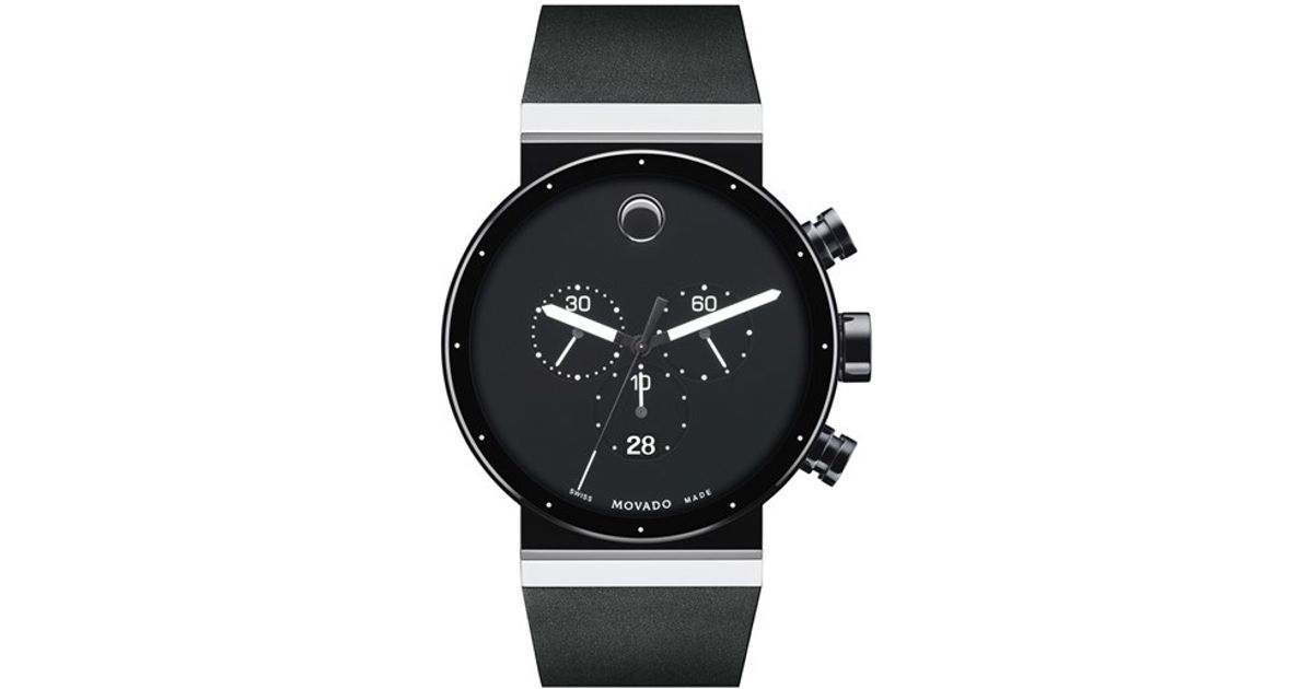 Lyst - Movado  sapphire Synergy  Chronograph Watch in Black for Men f026cef6d