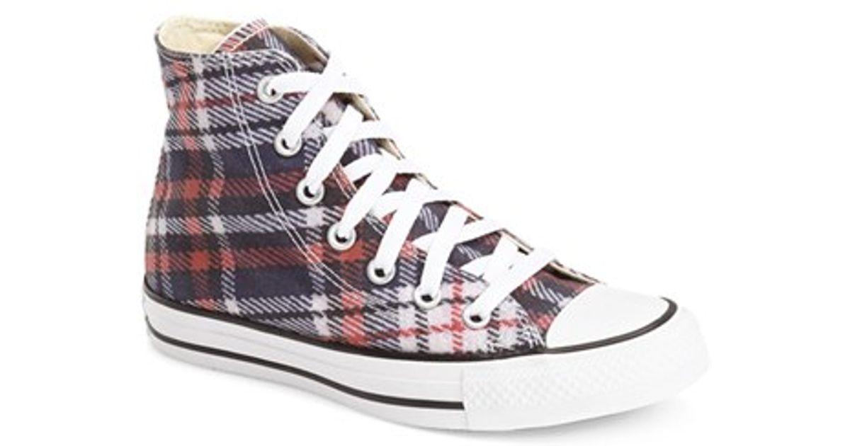 d6f8d96655d0e ... release date lyst converse chuck taylor all star plaid high top sneaker  in black cc79e c9912