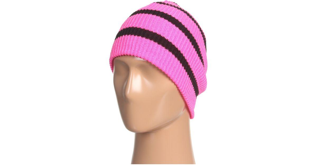 6500c62afa2 Lyst - Neff Daily Stripe Beanie in Pink