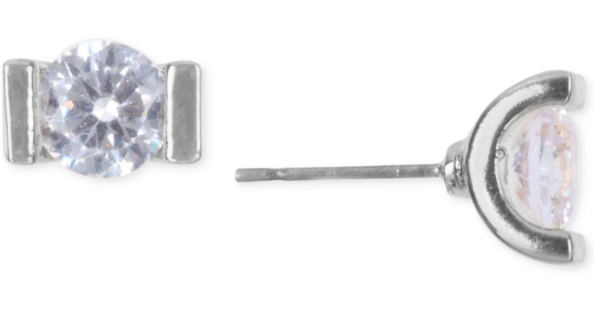 lonna lilly silver tone tension set stud