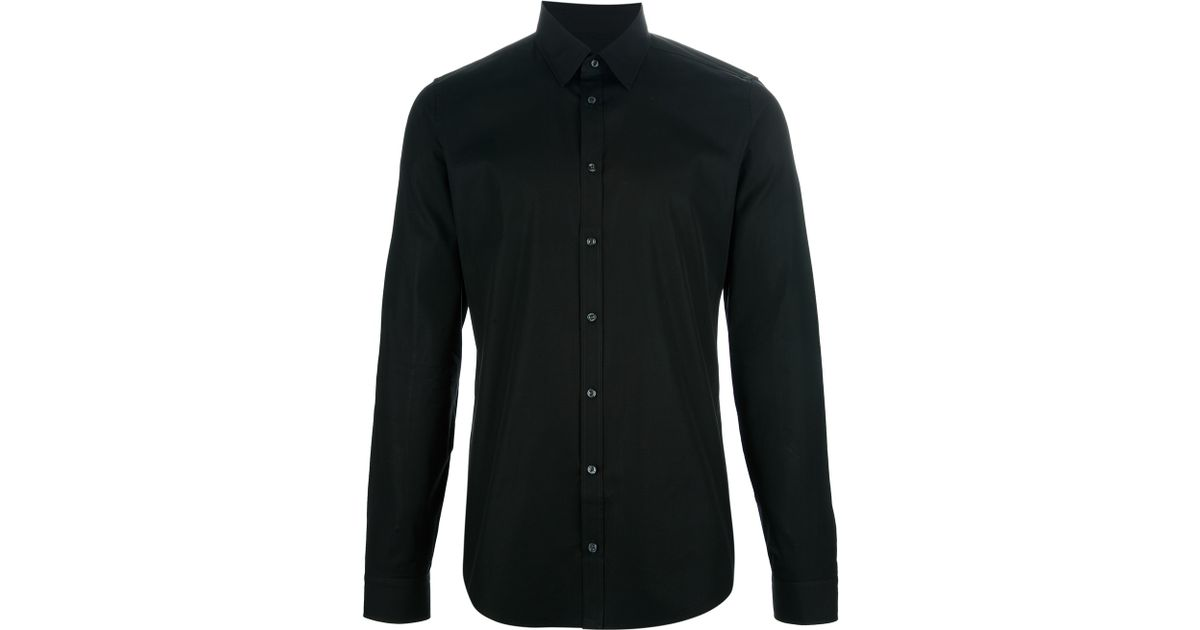 bd761835f5b Gucci Button Down Shirt in Black for Men - Lyst