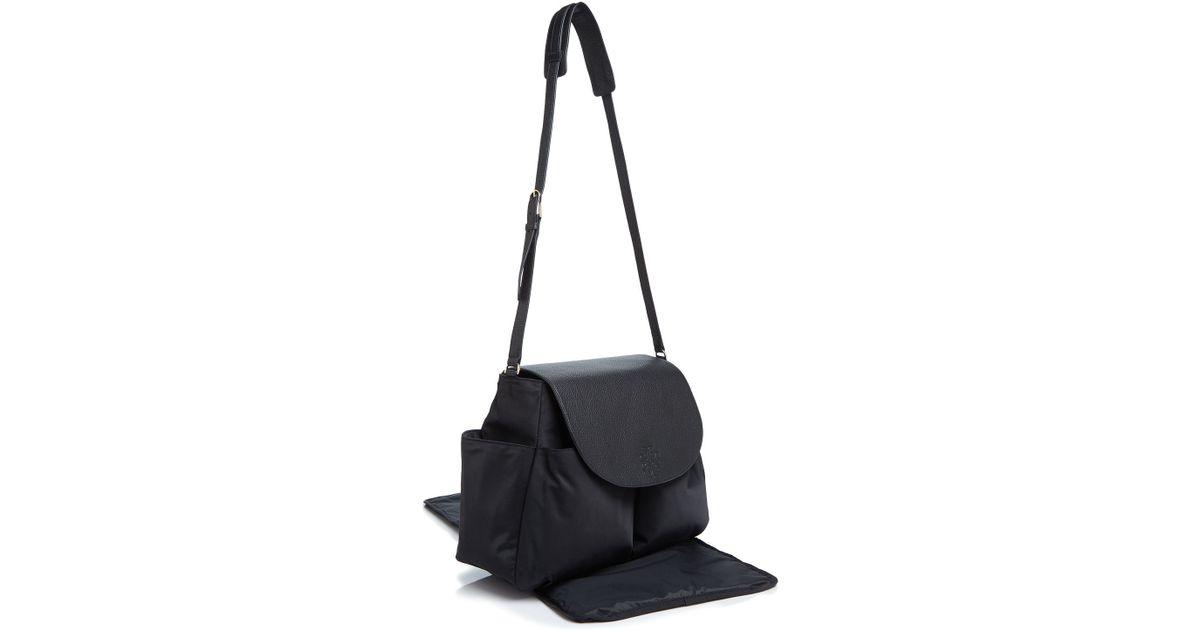 tory burch thea nylon messenger diaper bag in black lyst. Black Bedroom Furniture Sets. Home Design Ideas