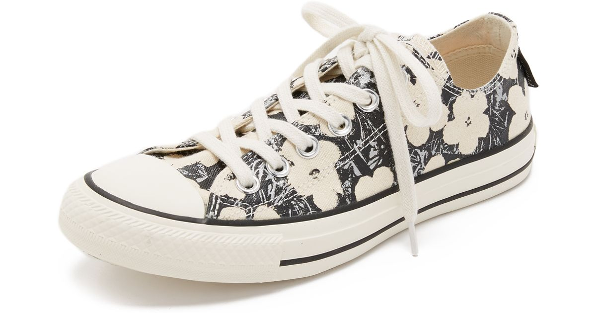 b96bc9547277 Lyst - Converse Chuck Taylor All Star X Andy Warhol Sneakers - Natural black  egret in Natural
