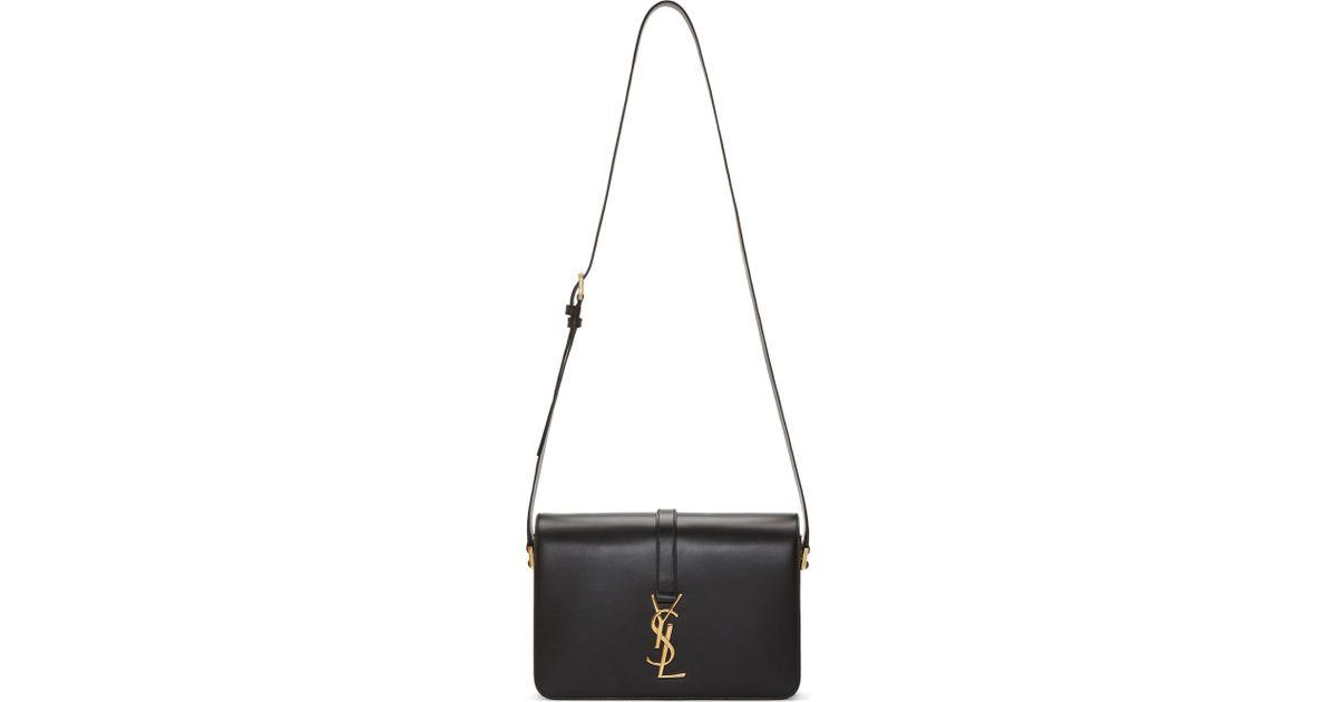 4c570d2ac340 Lyst - Saint Laurent Black Ysl Monogramme University Bag in Black